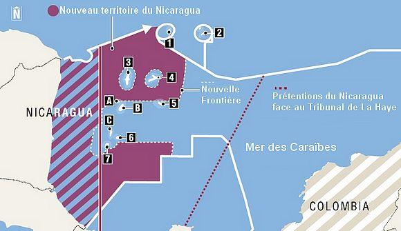 Conflit frontalier dans les Caraïbes entre le Nicaragua et la Colombie