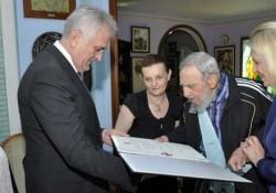 Rencontre entre Fidel Castro et Tomislav Nikolic