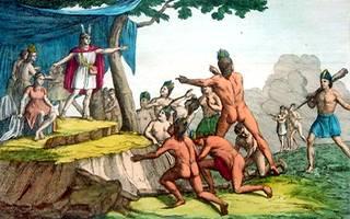 Manco Capac aportando la civilización a los hombres