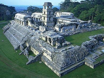 Construcci?n en Palenque, Chiapas, de la civilizaci?n Maya