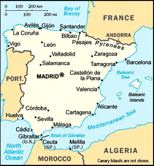 Plans De Villes En Espagne
