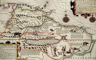 Mapa de Guayana en 1600