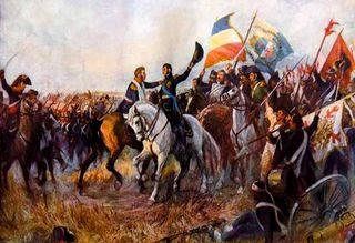 San Martin y O'Higgins en la Batalla de Maipu