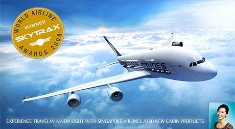 Singapore Airlines : Meilleure compagnie aérienne 2008