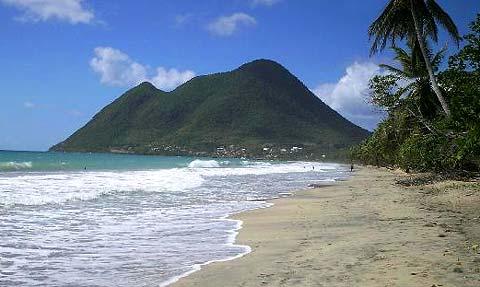 Plage de Diamant en Martinique