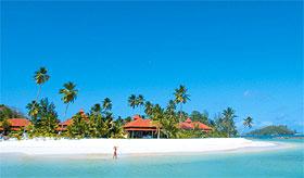 La plage et ses villas