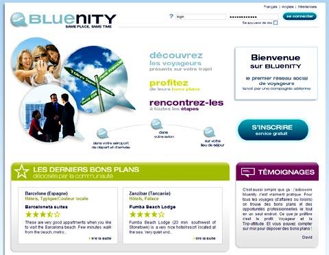 Bluenity, le réseau social d'Air France
