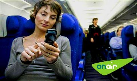 Téléphoner en avion grâce à Mobile OnAir