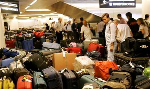 Salle de réception des bagages à l'Aéroport de Bruxelles