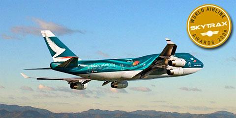 Cathay Pacific élue meilleure compagnie aérienne 2009