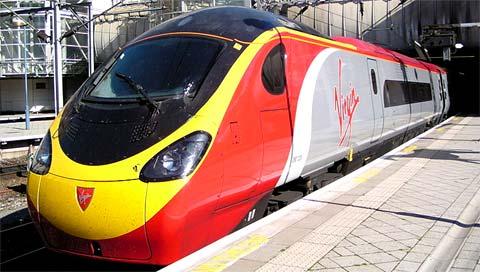Train pendulaire de Virgin Trains
