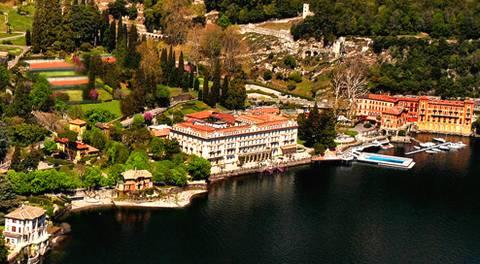 Hôtel Villa d'Este sur le Lac de Côme en Italie