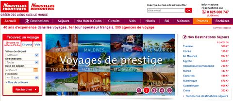 Magazine du tourisme actualit les r servations en for Agence nouvelle frontiere