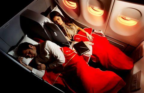 avion avec lit