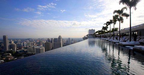 Magazine du tourisme h tels le marina bay sands ouvre for Hotel singapour piscine