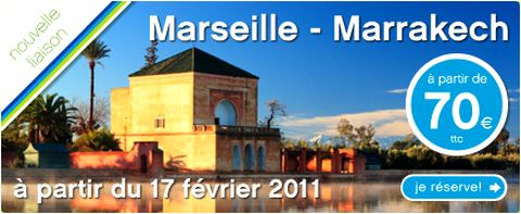 magazine du tourisme actualit vol marseille marrakech avec transavia. Black Bedroom Furniture Sets. Home Design Ideas