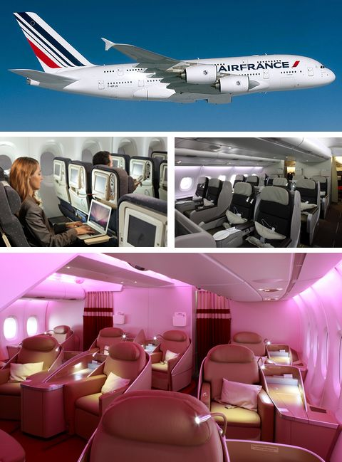 Magazine du tourisme informations plans des airbus a380 for Interieur 747 air france