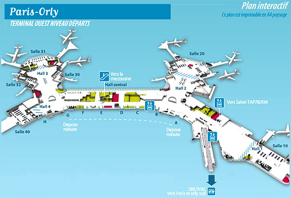 A roport de paris orly orly ouest for Porte w orly
