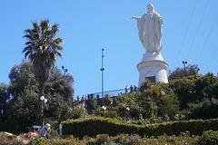 statue de la vierge de l'Immaculée Conception Santiago